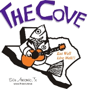 This is the restaurant logo for The Cove