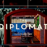 This is the restaurant logo for The Diplomat