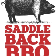 This is the restaurant logo for Saddleback BBQ