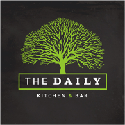 This is the restaurant logo for The Daily Kitchen & Bar