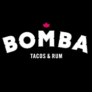 This is the restaurant logo for BOMBA Tacos & Rum