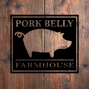 This is the restaurant logo for Pork Belly Farmhouse