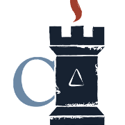 This is the restaurant logo for The Castle: A Board Game Cafe