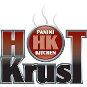 This is the restaurant logo for Hot Krust Panini Kitchen