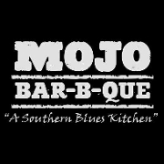 This is the restaurant logo for MOJO Bar-B-Que