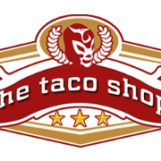 This is the restaurant logo for The Taco Shop