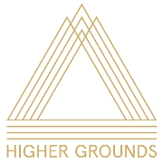 This is the restaurant logo for Higher Grounds