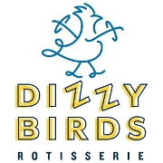 This is the restaurant logo for Dizzy Birds Rotisserie