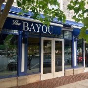 This is the restaurant logo for The Bayou