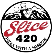 This is the restaurant logo for Slice420