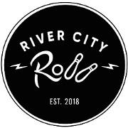 This is the restaurant logo for River City Roll