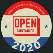 This is the restaurant logo for Open Container Bar