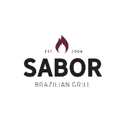 This is the restaurant logo for Sabor Brazilian Grill