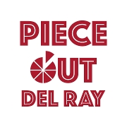 This is the restaurant logo for Piece Out Del Ray