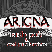 This is the restaurant logo for Arigna Irish Pub & Coal Fire Kitchen