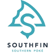 This is the restaurant logo for Southfin Southern Poke