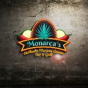 This is the restaurant logo for Monarca's Authentic Mexican Cuisine