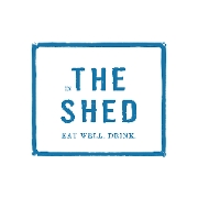 This is the restaurant logo for The Shed