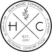 This is the restaurant logo for Haywood Common ———————————— Order online for to-go. ————————————