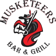 This is the restaurant logo for Musketeers Bar & Grill