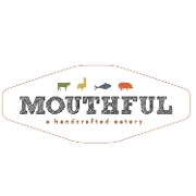 This is the restaurant logo for MOUTHFUL EATERY