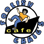 This is the restaurant logo for Foolish Craig's Cafe