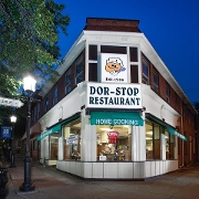 This is the restaurant logo for The Dor-Stop Restaurant