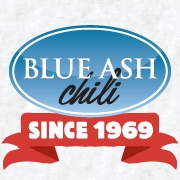 This is the restaurant logo for Blue Ash Chili