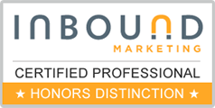 Toby Elwin, telwin, certified, social media, Inbound Marketing Professional, Honors Distinction, HubSpot Inbound Marketing University