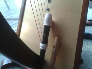 My Harp, and my two Recorders- a Soprano and a Sopranino