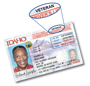 Veteran Designation Now Available on Idaho licenses and State IDs
