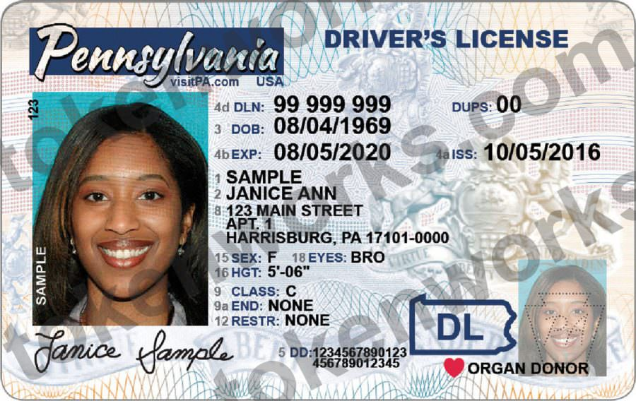 New Pennsylvania Driver's License removes magnetic stripe