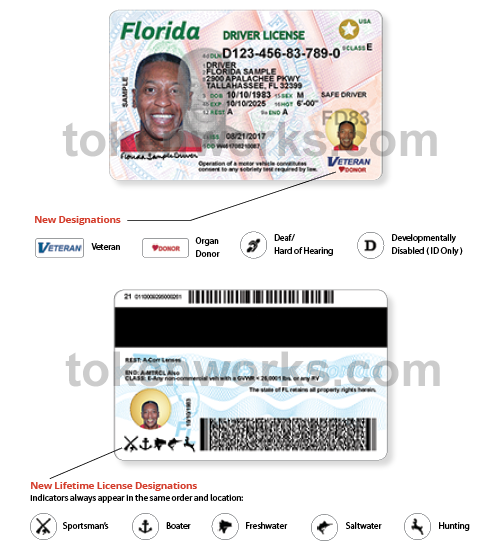 Florida driver's license designations