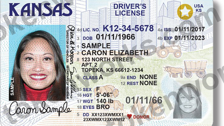 New Kansas REAL ID compliant driver's license design