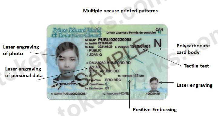 New Prince Edward Island Driver's License Design