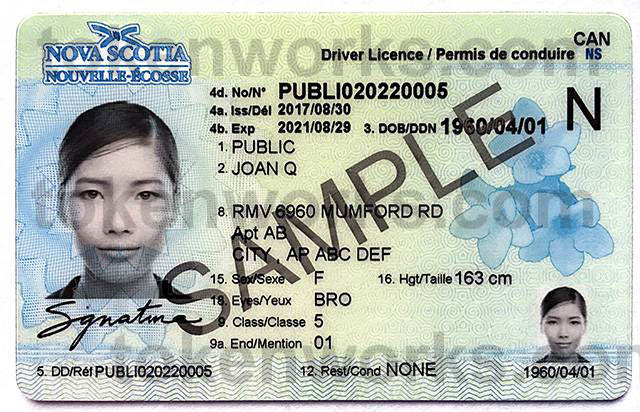 New Nova Scotia Driver's License Design