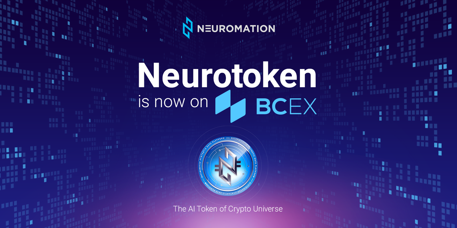 Neuromation's NeuroToken (NTK) Secures Listing on the BCEX Exchange