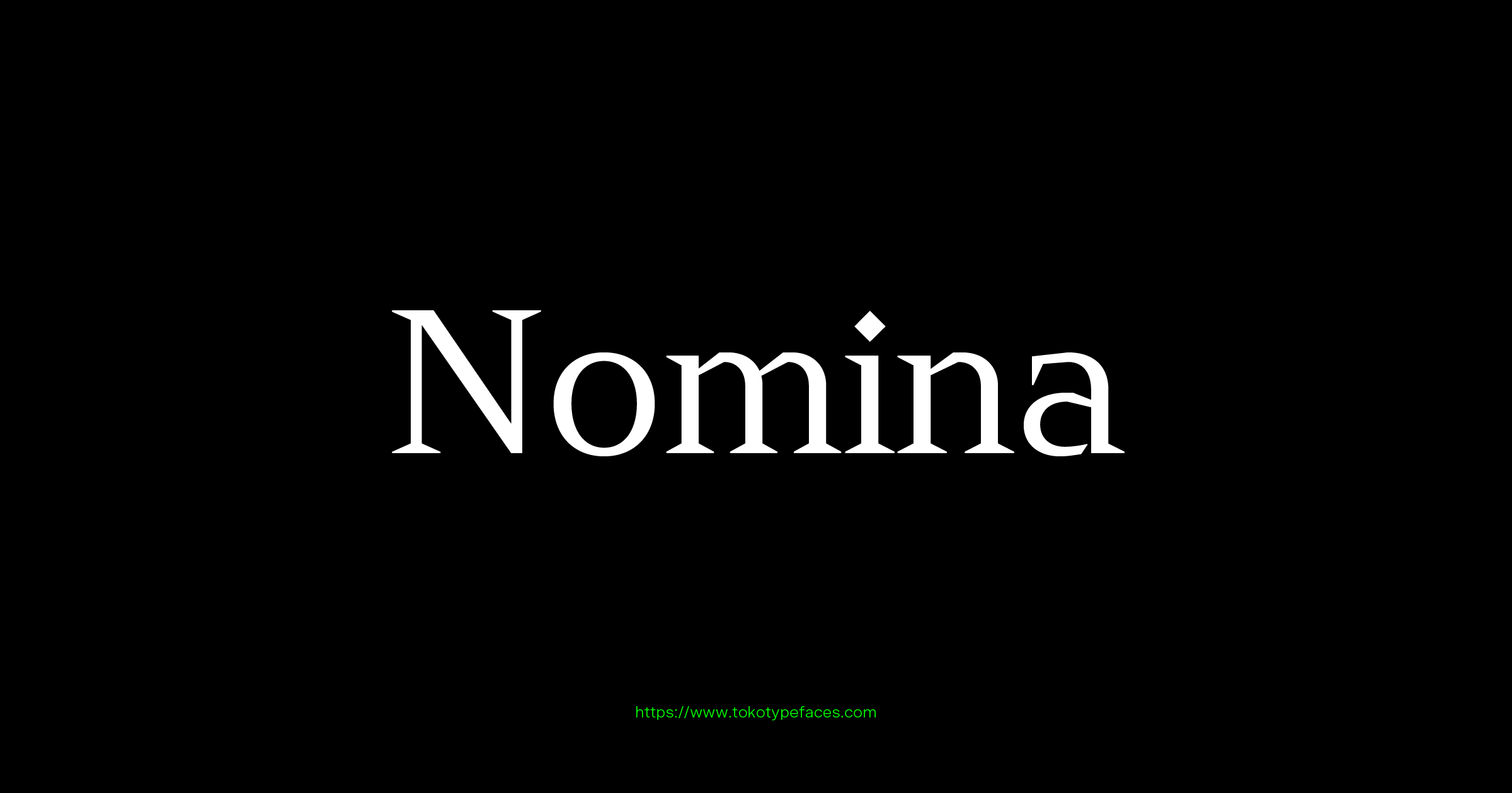 nomina typefaces tokotype digital type foundry
