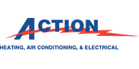 Website for Action Heating, Air Conditioning & Electrical