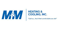 Website for M & M Heating and Cooling Inc.