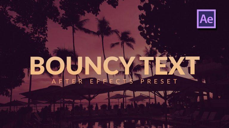 Bouncy Text Characters Animation in After Effects & Premiere Pro
