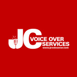JC Voice Over Services 1 white on red