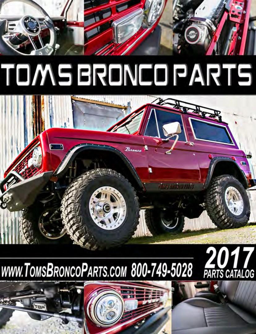 2017 Tom's Bronco Parts Digital Catalog - Toms Bronco Parts