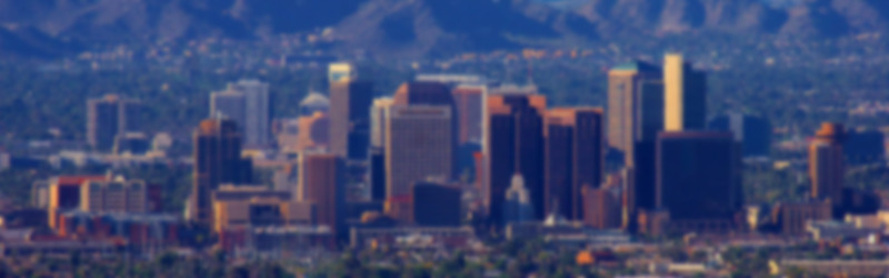 Phoenix downtown from south mountain