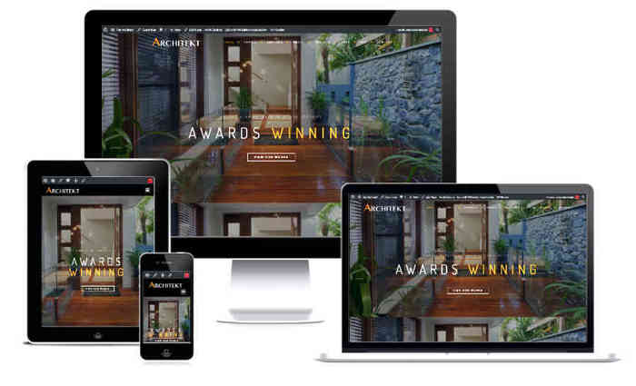 Architect website display