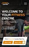 Fitness centre responsive website mobile home