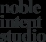 Nobleintent logo vertical black