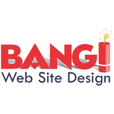 Bang logo white square
