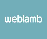 Weblamb logo blue bg