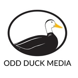 Odd duck logo square white